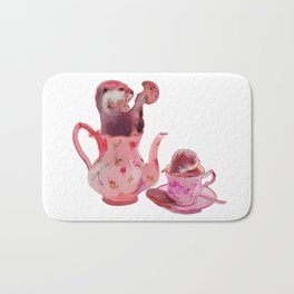 Otter Tea and Biscuits Bath Mat