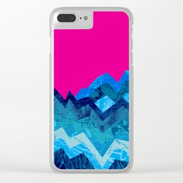 The hight waves under a small moon Clear iPhone Case