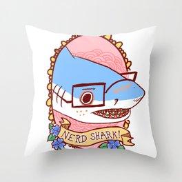Nerd!Shark Throw Pillow