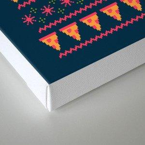 Merry Pizza Canvas Print