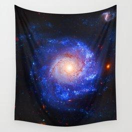 Pinwheel Galaxy Blue Wall Tapestry