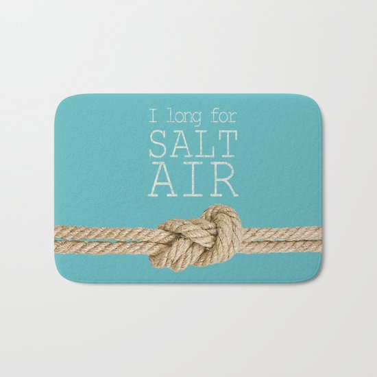 Beach Series Aqua - Beach Saying on turquoise background 2 on #Society6 Bath Mat