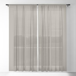 Sherwin Williams Trending Colors of 2019 Felted Wool (Gray Taupe) SW 9171 Solid Color Sheer Curtain