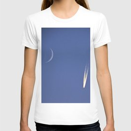 Moon and Jet in the Deep Blue T-shirt