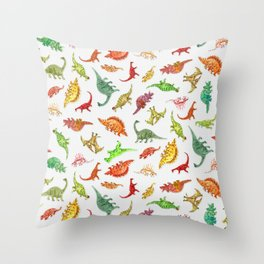 Dinosaur Party Pattern Throw Pillow