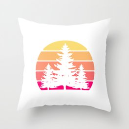 REtro Vintage Save Earth Environmental Shirt For Environentalists T-shirt Design Nature Forest Throw Pillow