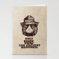 grumpy Stationery Cards featuring Grumpy PSA by Eric Fan