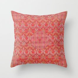 Kashmir North Indian Moon Shawl Print Throw Pillow