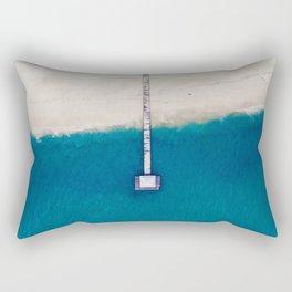 Pier to the Ocean (Color) Rectangular Pillow