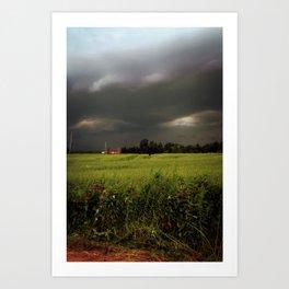 Rolling Thunder, Warm Winds Art Print