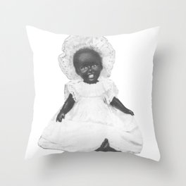 Pinafore and Bonnet Throw Pillow