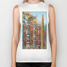 Vancouver Two Worlds Collide Landscape Painting Biker Tank