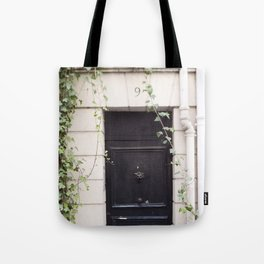 The Black Door at No. 9 Tote Bag