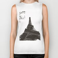 eiffel Biker Tanks featuring eiffel by samantha lawson