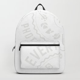 everyone's a professional photographer, till. pullover backside graphic Backpack