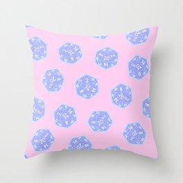 Twenty Sided Dice Pattern Throw Pillow