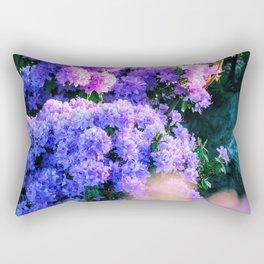 Purple Sun Spots Rectangular Pillow