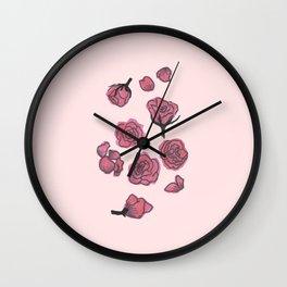 Rose studies Wall Clock