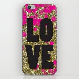 Love in Glitter iPhone Skin