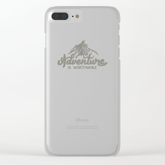Adventure is Worthwhile Clear iPhone Case