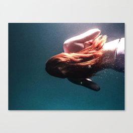 Girl Underwater Canvas Print