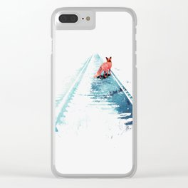 From nowhere to nowhere Clear iPhone Case