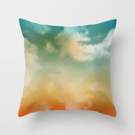 """Orange & Blue Heaven"" Throw Pillow"