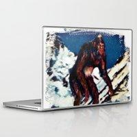 bigfoot Laptop & iPad Skins featuring Bigfoot is Real by Adam Metzner