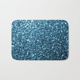 Beautiful Baby blue glitter sparkles Bath Mat