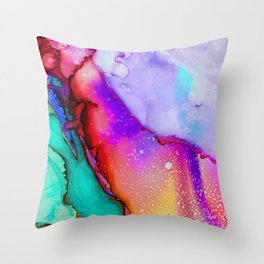 Abstract Melt IV Throw Pillow