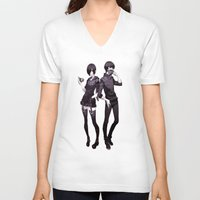 tokyo ghoul V-neck T-shirts featuring kaneki touka tokyo ghoul by Lee Chao Charlie Vang