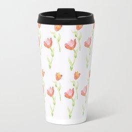 Tulip watercolor pattern Travel Mug