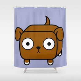 Pitbull Loaf - Red Brown Pit Bull with Floppy Ears Shower Curtain