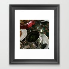 Ceremony of the tea Framed Art Print