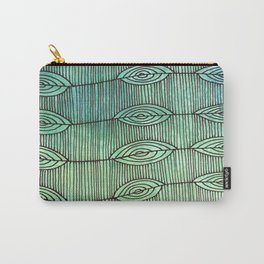 Leaf Line Optical Ilusion Carry-All Pouch