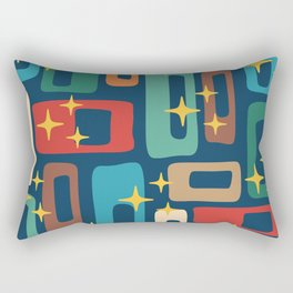 Retro Mid Century Modern Abstract Pattern 221 Rectangular Pillow