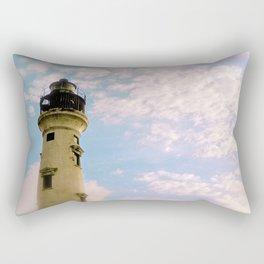Cloudy at the Lighthouse Rectangular Pillow