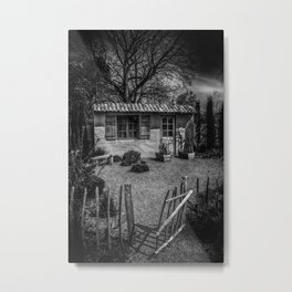 Le Jardin de Vincent Black and White Metal Print