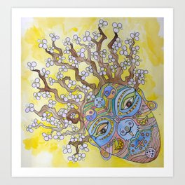 Plum Blossom Lady Art Print