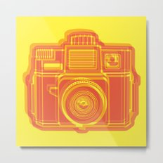 I Still Shoot Film Holga Logo - Yellow & Red Metal Print