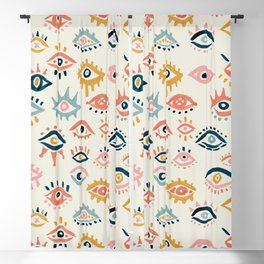 Mystic Eyes – Primary Palette Blackout Curtain