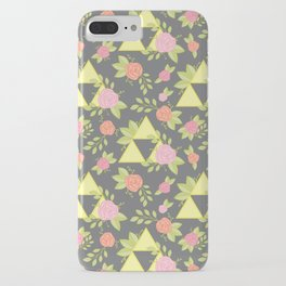 Garden of Power, Wisdom, and Courage Pattern in Grey iPhone Case