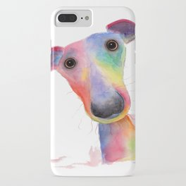 Nosey Dog Whippet / Greyhound ' HANK ' by Shirley MacArthur iPhone Case