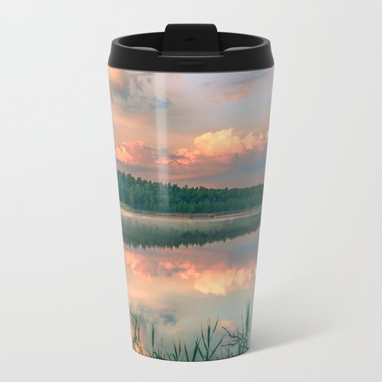 Misty Sunrise Metal Travel Mug