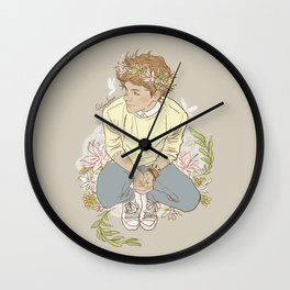 """ The Sun-Kissed Boy "" Wall Clock"