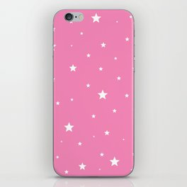 Scattered Stars on Pink iPhone Skin