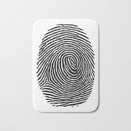 Fingerprint CSI crime scene Bath Mat