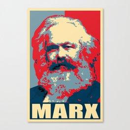 Karl Marx Propaganda Pop Art Canvas Print