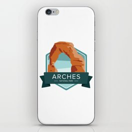 Arches National Park Graphic Badge iPhone Skin