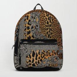 Baroque Leopard Scarf Backpack
